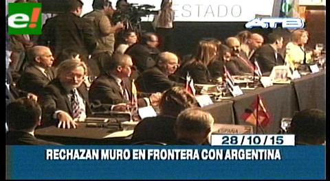 Titulares de TV: Fiscales de Iberoamérica rechazan la construcción de un muro entre Bolivia y Argentina
