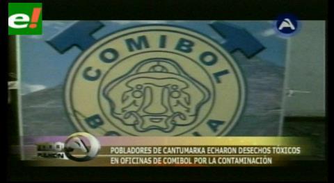 Comibol demandará a comunarios de Cantumarca por atentado a sus oficinas