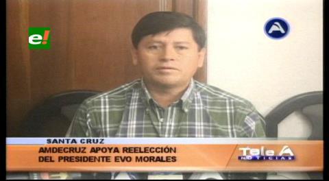 Amdecruz apoya la repostulación de Evo Morales