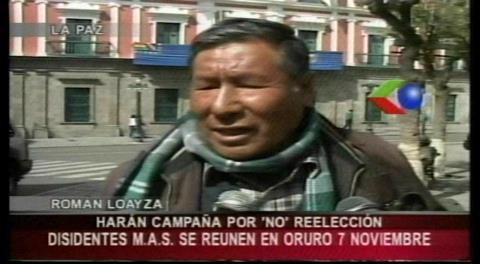 Román Loayza hará campaña por el NO a la repostulación de Evo