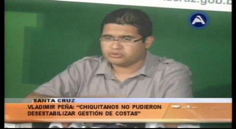 """Peña: """"Los chiquitanos no pudieron desestabilizar a Rubén Costas"""""""