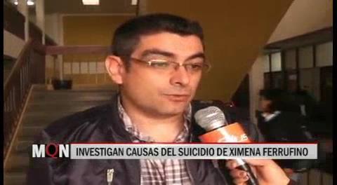 Tarija. Fiscalía confirma suicidio de la modelo Ximena Ferrufino y cierra el caso