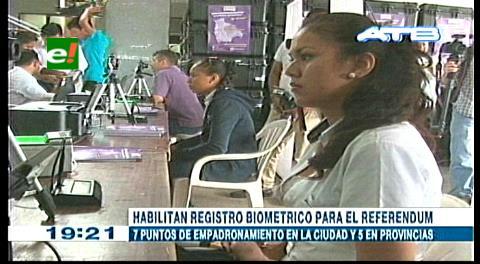 Referéndum 2016: Los colegiales abrieron el registro permanente en Santa Cruz