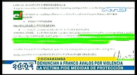 Cochabamba: Denuncian a periodista por violencia intrafamiliar