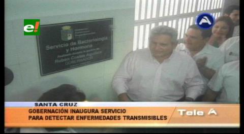 Rubén Costas inaugura servicio de Bacteriología y Hormonas para detectar enfermedades transmisibles