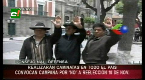 """Anuncian inicio de campaña por el No y califican convocatoria al referéndum de """"trucha"""""""