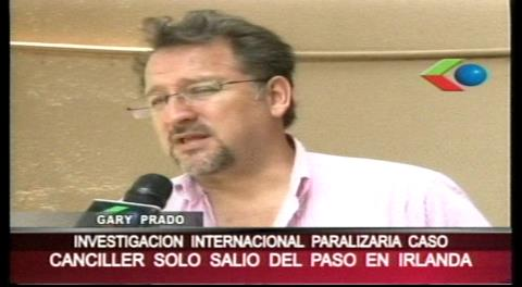 """Gary Prado: """"Una investigación internacional paralizaría el caso terrorismo"""""""