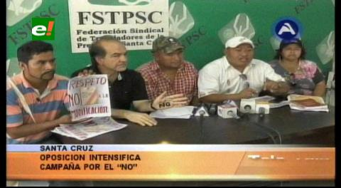 Organizaciones civiles se movilizan por el No en el referéndum