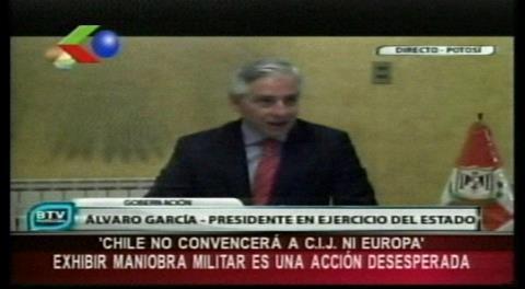 "Vicepresidente calificó despliegue militar chileno como un acto de ""desesperación de un Gobierno aislado"""