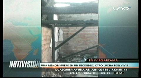 Ivirgazama: Muere una niña de 4 años por explosión de una garrafa
