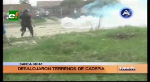 Cadepia: 800 policías desalojan a familias en áreas tomadas
