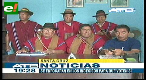 Ponchos Rojos aseguran que el Sí ganará en Santa Cruz