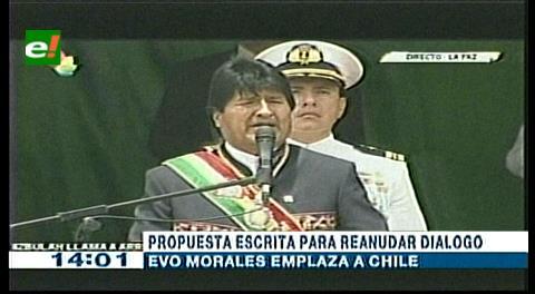 Evo revela que Merkel sugirió intervención del Papa en lío del mar y emplaza a Chile oficializar propuesta de diálogo