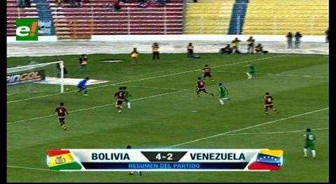 Bolivia sonríe tras derrotar a Venezuela por 4-2