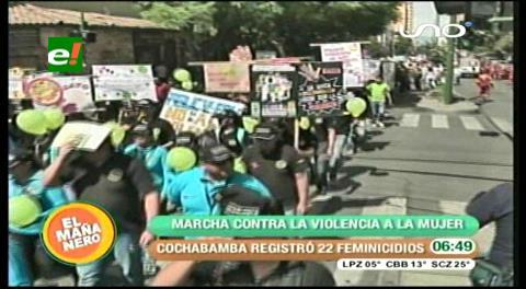 Cochabamba: Marcharon contra la violencia