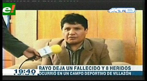 Rayo mata a jugador y hiere a otros en Villazón