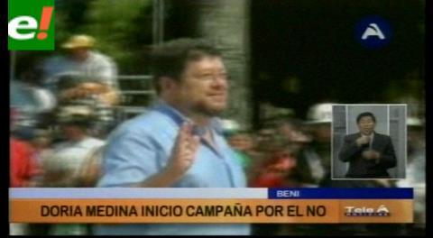Doria Medina desfiló en el aniversario de Beni con la consigna del No a la reelección de Evo