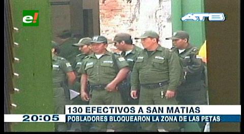 Policía envía 150 efectivos a desbloquear carreteras en San Matías