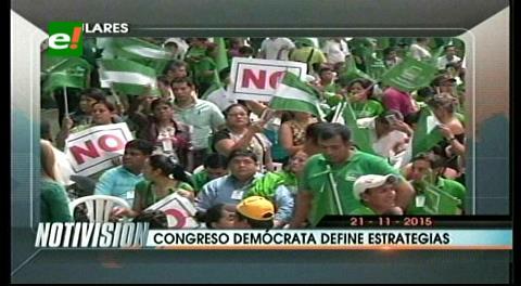 Titulares de TV: Arrancó el Congreso de Demócratas, definirán líneas de campaña por el NO a la reelección