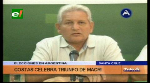 Rubén Costas felicita a Macri por su triunfo
