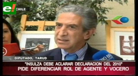 """Chile: Diputado Tarud pide a Insulza aclarar sus dichos de ofrecer """"propuestas concretas"""" a Bolivia"""