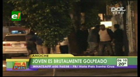 Fueron filmados: Joven es brutalmente golpeado por 4 personas