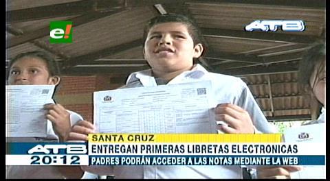 Santa Cruz: Entregan nuevas libretas electrónicas a escolares