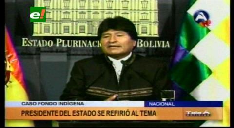 Corrupción. Evo pide pruebas contra exautoridades y exdirigentes en caso Fondioc