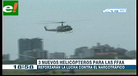 Ferreira anuncia que llegarán tres helicópteros para reforzar la capacidad operativa de las FFAA