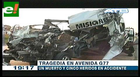 Avenida G-77: Una persona fallecida y cinco heridas en accidente