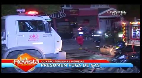 Incendio en la zona de Miraflores deja cuatro heridos