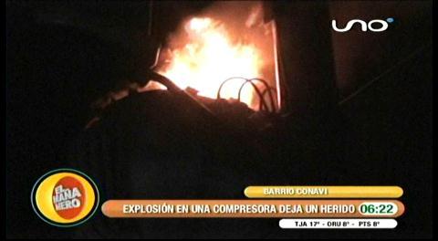 Explosión de un calefón a gas deja un herido