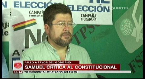 Samuel critica fallo del TCP y anuncia control electoral