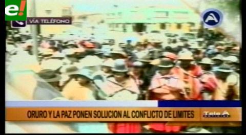 La Paz y Oruro sellan acuerdo de pacificación limítrofe entre municipios de Colquiri y Caracollo