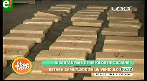Felcn secuestra 59,7 kilos de cocaína en 15 operativos en Cochabamba