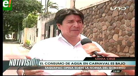Saguapac. Carnaval no altera el consumo de agua en Santa Cruz