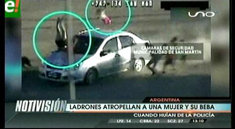 Argentina: Robaron un auto, escaparon y atropellaron a una mujer y su bebé