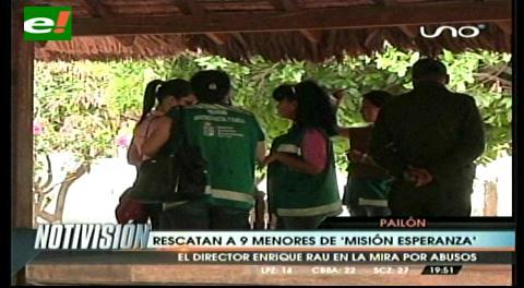 """Defensoría rescata a 9 menores de """"Misión Esperanza"""""""