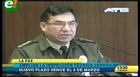 Amplían por un mes la inspección técnica vehicular en Bolivia
