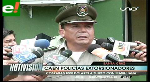 Cinco policías presos por extorsión