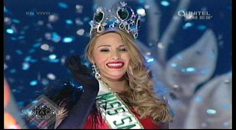 Miss Santa Cruz 2016 es Antonella Moscatelli