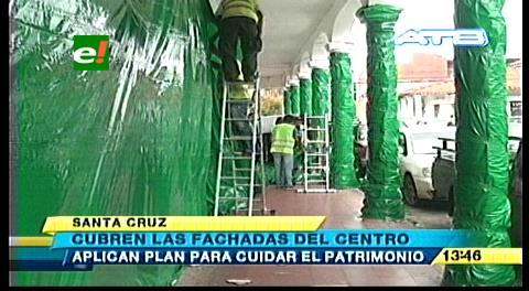 Alcaldía cruceña protege en carnaval fachadas patrimoniales en el centro histórico