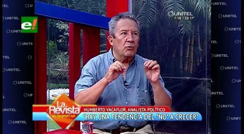 """Humberto Vacaflor: """"El No tiene tendencia a crecer"""""""