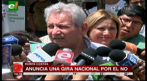 Rubén Costas participará de actos por el No en todo el país