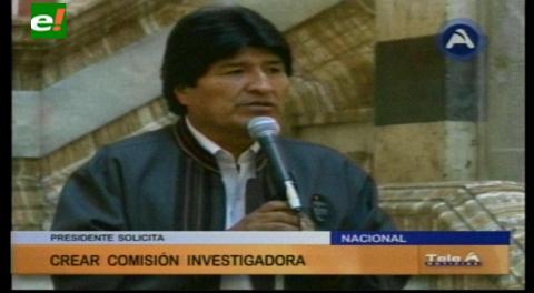 Evo autoriza que comisión legislativa lo investigue por tráfico de influencias en el caso Gabriela/CAMC