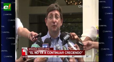 Senador Ortiz: Crece la tendencia a favor del No