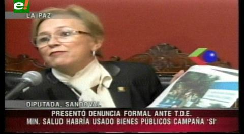 Ante el TSE: Presentan denuncia por uso indebido de bienes contra la Ministra de Salud