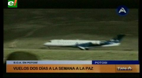 BoA inauguró vuelos a Potosí
