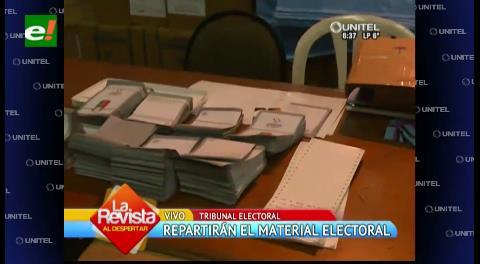 Comenzarán a repartir el material electoral en provincias