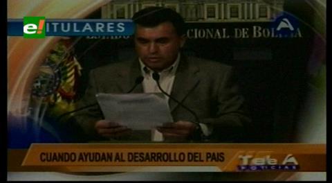 """Titulares de TV: Quintana dice que EEUU está """"torpedeando"""" las inversiones chinas en Bolivia"""